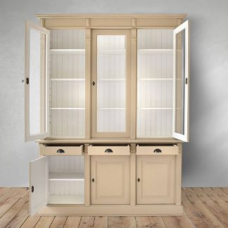 James Display Cabinet in Beige