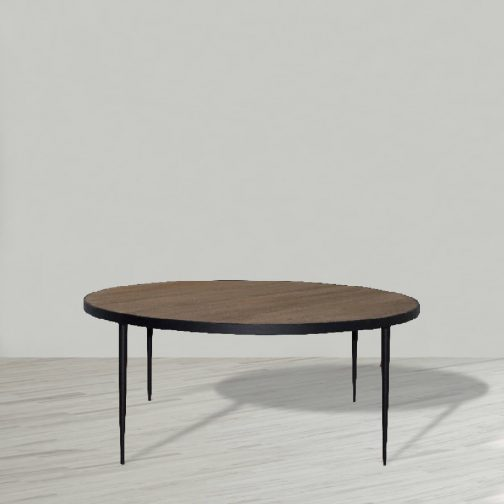 Bonny Coffee Table with Black Steel Legs