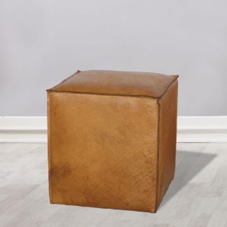 Evelyn Leather Cube
