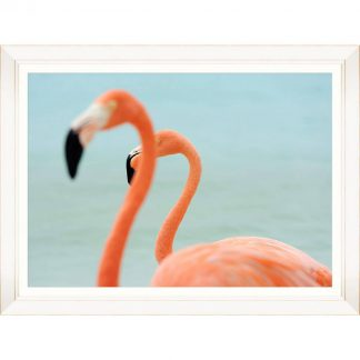 Flamingo Couple Framed Art