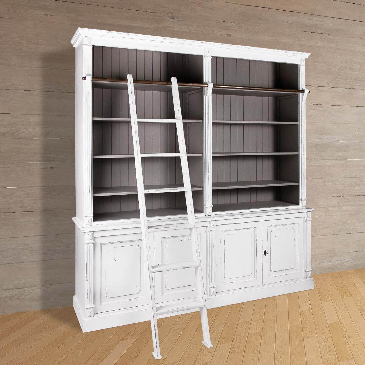 Norris Open Book Shelf with Ladder Cozy Home Dubai