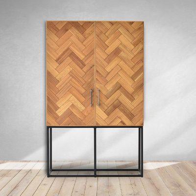 Sterling Cabinet in Fishbone Design