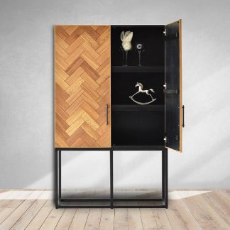 Sterling Cabinet in Fishbone Design