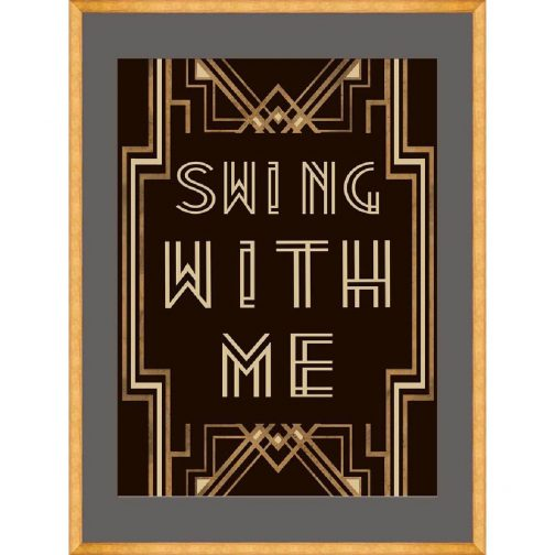 Swing with me 2 Framed Art