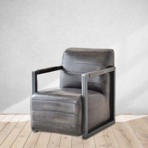 Tobacco Leather Club Chair Cozy Home Dubai
