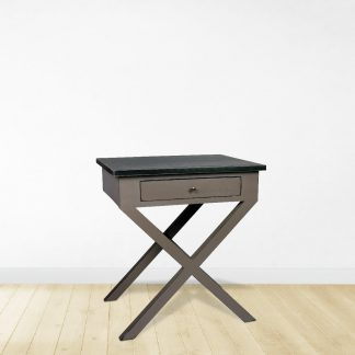Wyes Side Table in Black & White