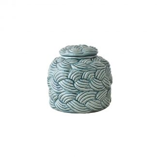 Delphine Sea Green Jar