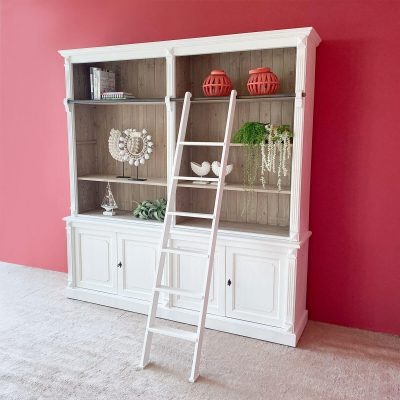 Pascale 4 Door Bookshelf with Ladder