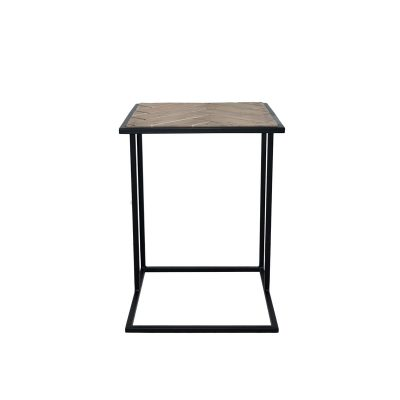 Aimee Side Table with Black Legs