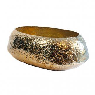 Bronze Oval Vase 37cm