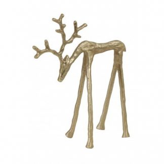 Golden Deer 25cm home decor in abu dhabi cozy home