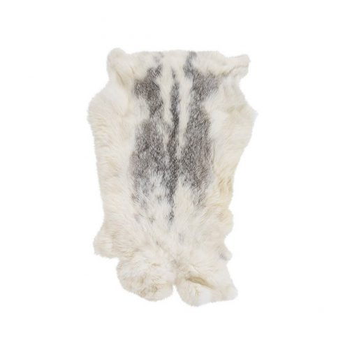 Natural White Mottled Fur