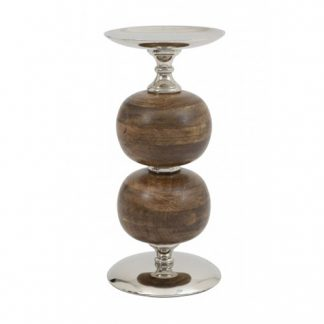 Nickel Candle Holder 36cm