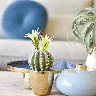 Warm Blue Enamel Vase