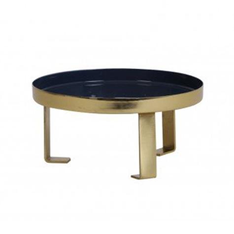 Dark Blue-Gold Enamel Tray 20x10cm