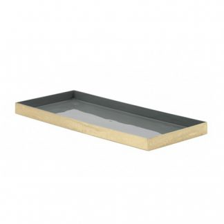 Grey Enamel Tray 35cm