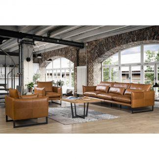 kenzo 4 Seater Leather Sofa