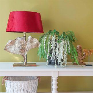 Light Bronze Leaf Table Lamp I