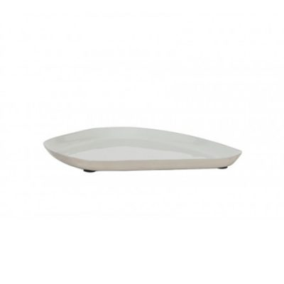 Light Grey Enamel Tray 21x17cm