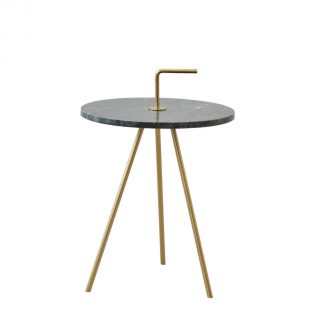 Marble Green-Gold Table 36 x 42 cm