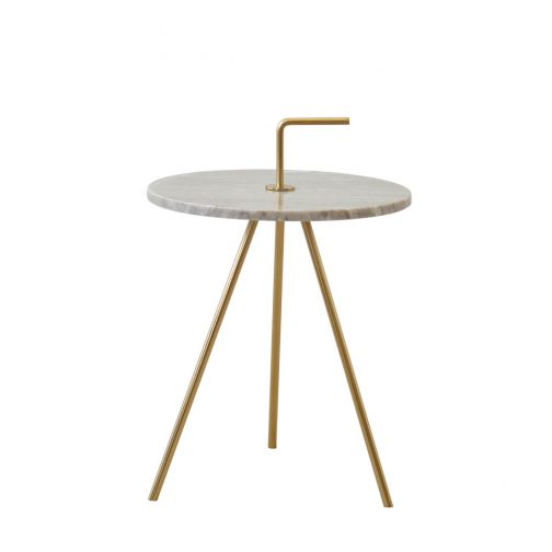 Marble Grey-Gold Table 36 x 42 cm