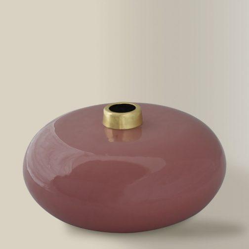 Warm Rose Enamel Vase Large