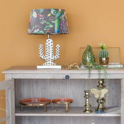 Gold Cactus Table Lamp II