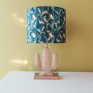 Gold Cactus Table Lamp IV