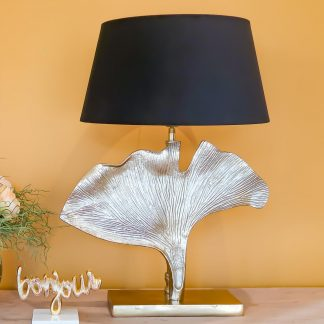 Light Bronze Leaf Table Lamp II