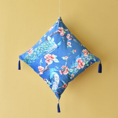 Peacock Cushion with Tassel