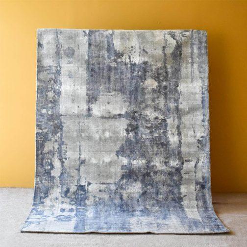 Arano Dusty Blue Hand Woven Rug – 190x290cm/300x400cm