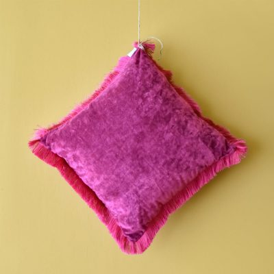 Cyclaam Cushion with Fringes