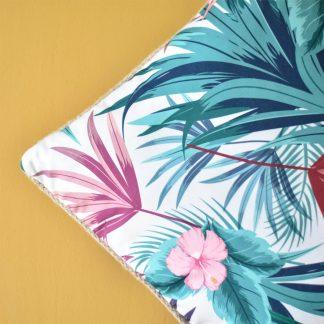 Tropical Cushion with Jute Border