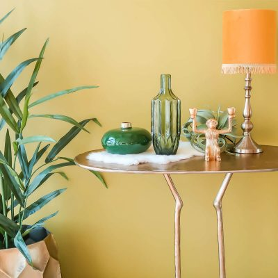 Bronze Feet Console Table
