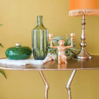 Warm Green Enamel Vase