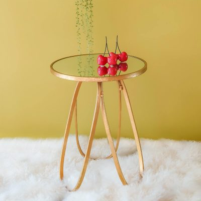Mirror Gold Side Table
