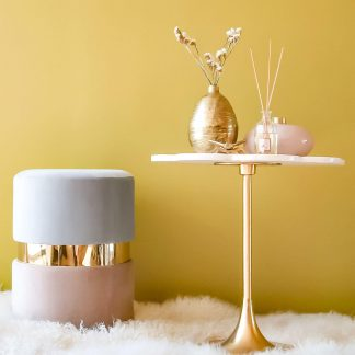 Flower Marble Accent Table