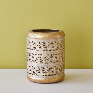 Rust Gold Candle Holder