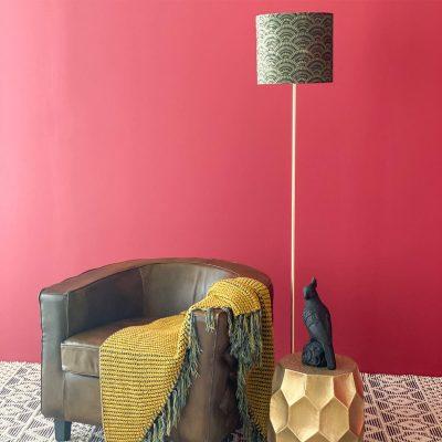 Green Shade Standing Lamp 150cm