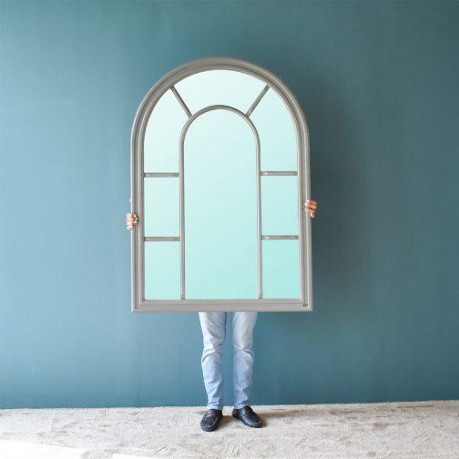Arc Window Pane Mirror