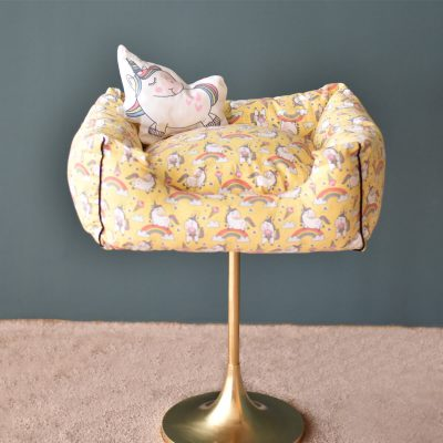 Unicorn Pet Bed – Yellow