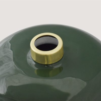 Green Enamel Vase Small